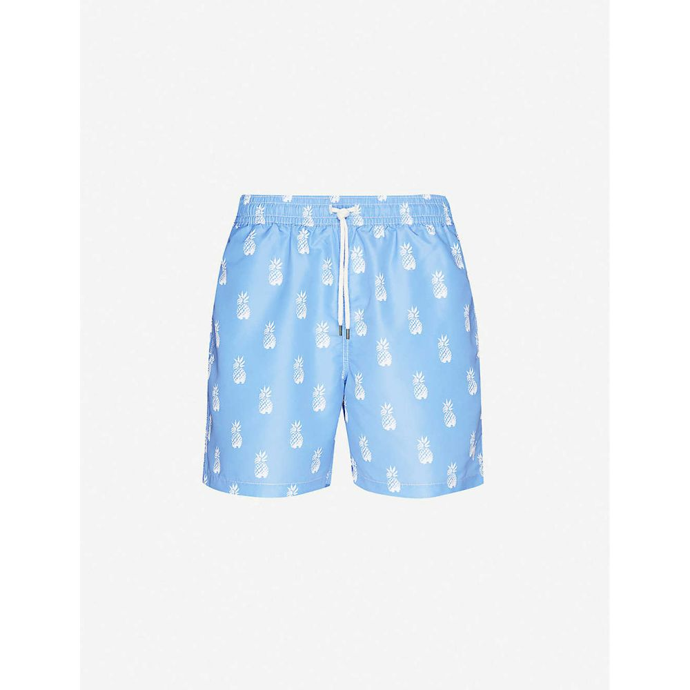 ラルフ ローレン POLO RALPH LAUREN メンズ 海パン ショートパンツ 水着・ビーチウェア【Traveller pineapple-print logo-embroidered swim shorts】Bathsheba Pineapples