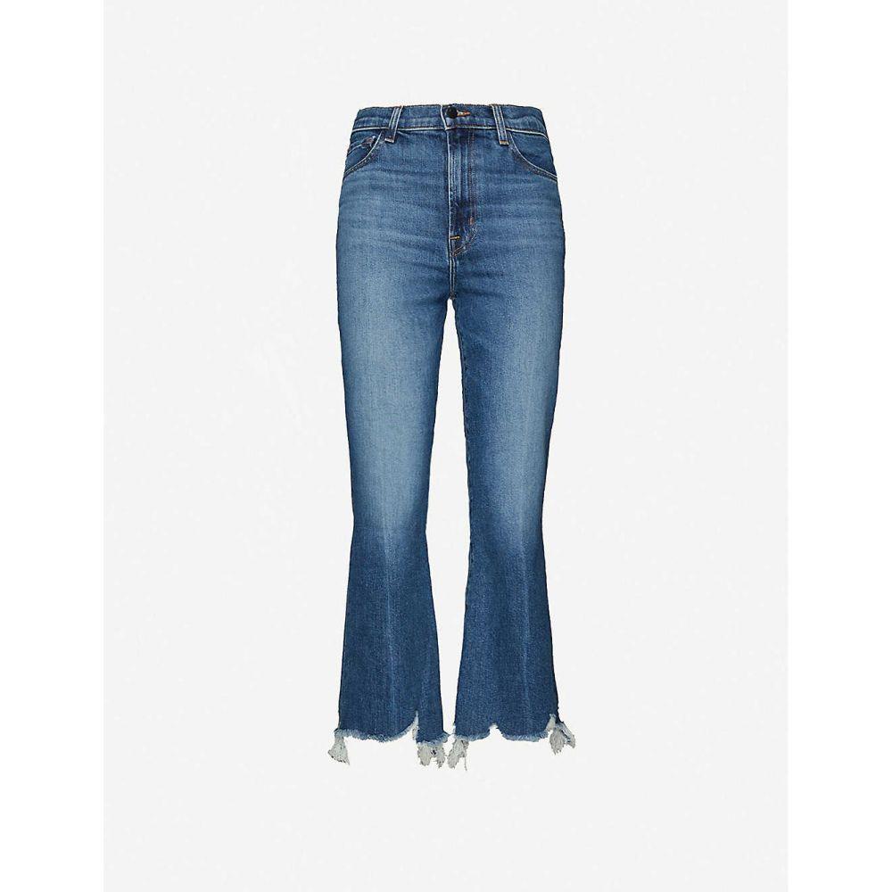 ジェイ ブランド J BRAND レディース ジーンズ・デニム ボトムス・パンツ【Julia frayed-hem straight high-rise jeans】Wonderland Destruct