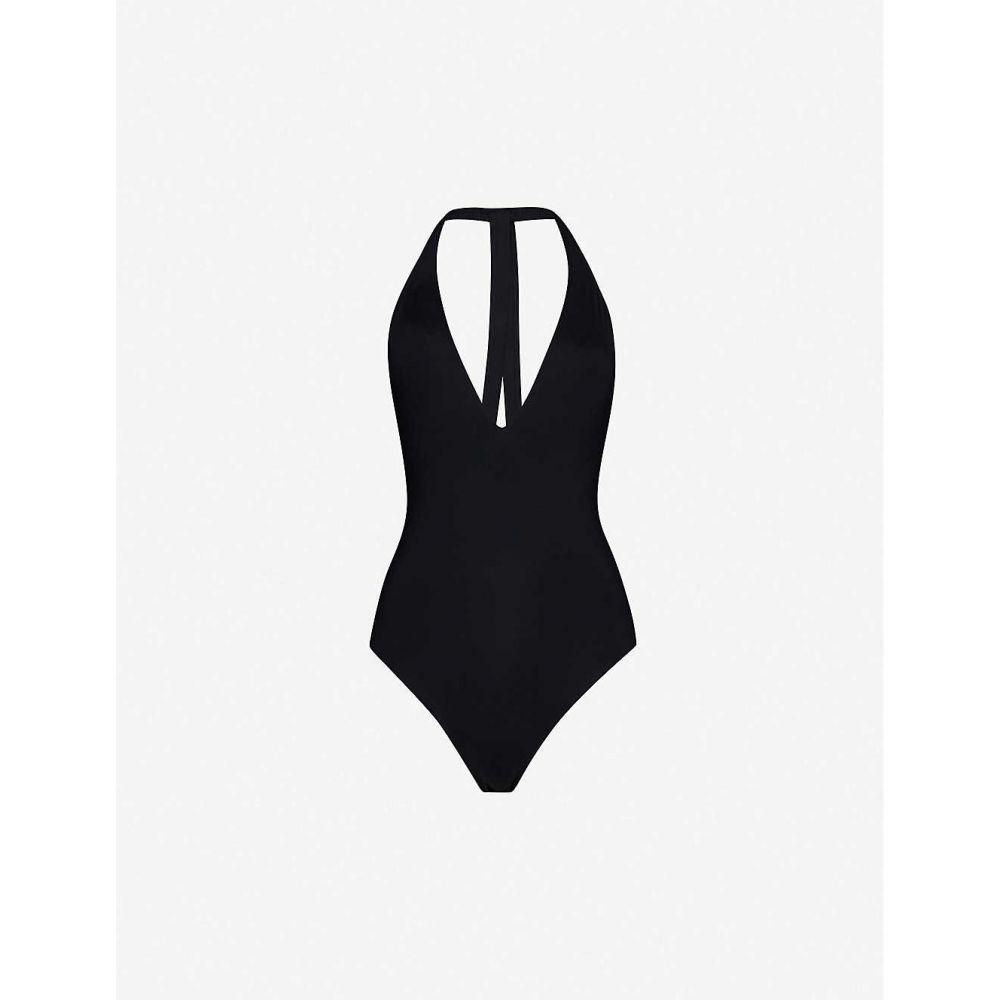 シーフォリー SEAFOLLY レディース ワンピース Vネック 水着・ビーチウェア【Active plunge V-neck swimsuit】BLACK