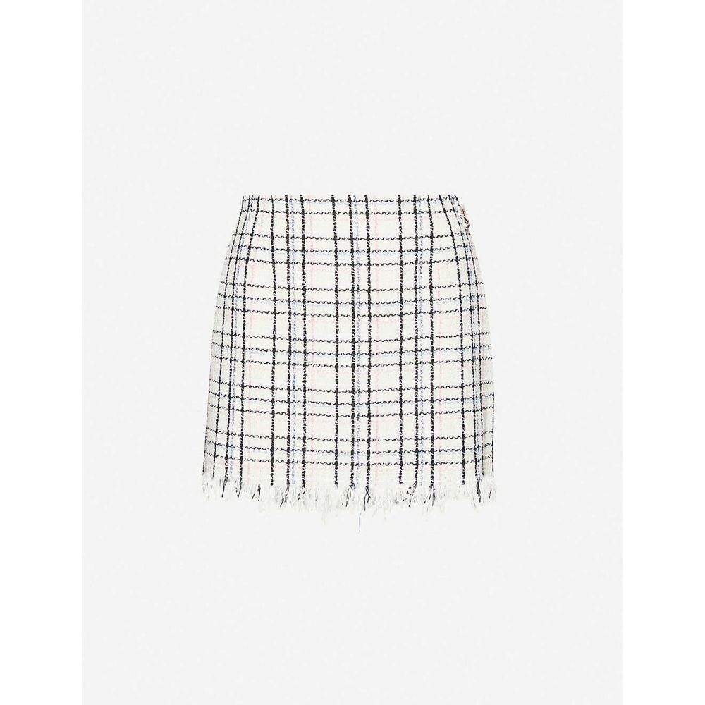 マージュ MAJE レディース ミニスカート スカート【Jianey cotton-blend tweed mini skirt】ECRU