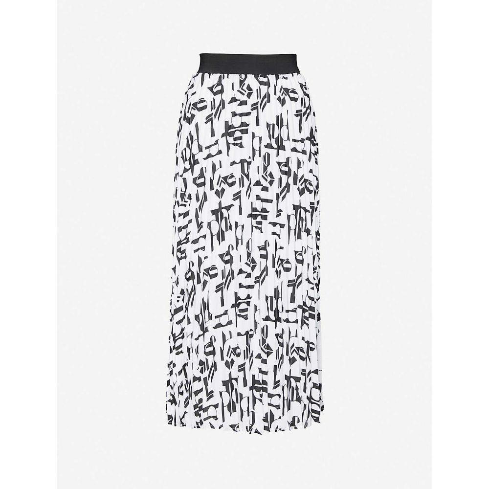 マージュ MAJE レディース ひざ丈スカート スカート【Jemo pleated midi skirt】WHITE BLACK