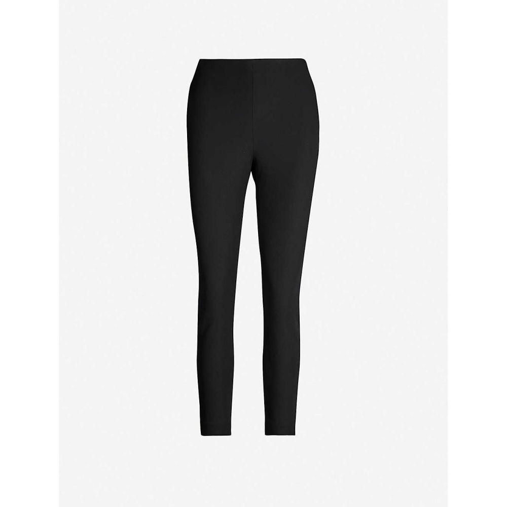 テッドベーカー TED BAKER レディース クロップド ボトムス・パンツ【Cemelia cropped skinny high-rise ponte-knit trousers】BLACK