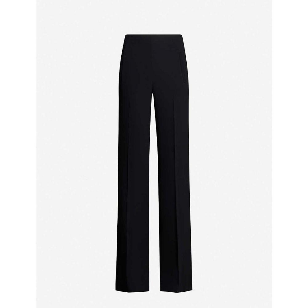 ローラン ムレ ROLAND MOURET レディース ボトムス・パンツ 【Axton straight stretch-crepe trousers】BLACK