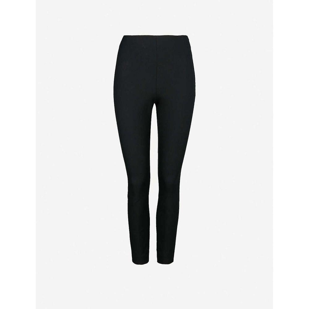 ホイッスルズ WHISTLES レディース スキニー・スリム ボトムス・パンツ【Super Stretch cotton-blend trousers】BLACK