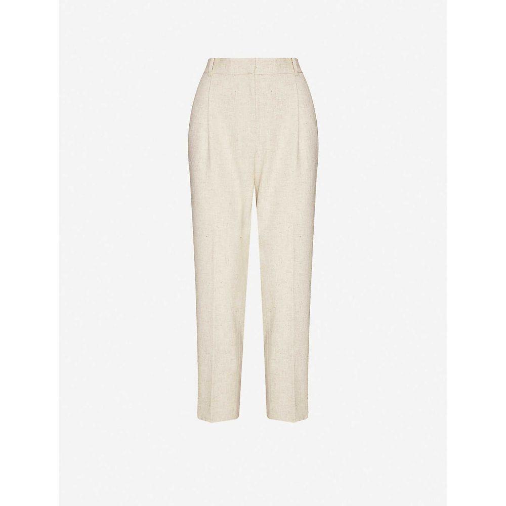 リース REISS レディース ボトムス・パンツ 【Lauren high-rise wool-blend trousers】OATMEAL