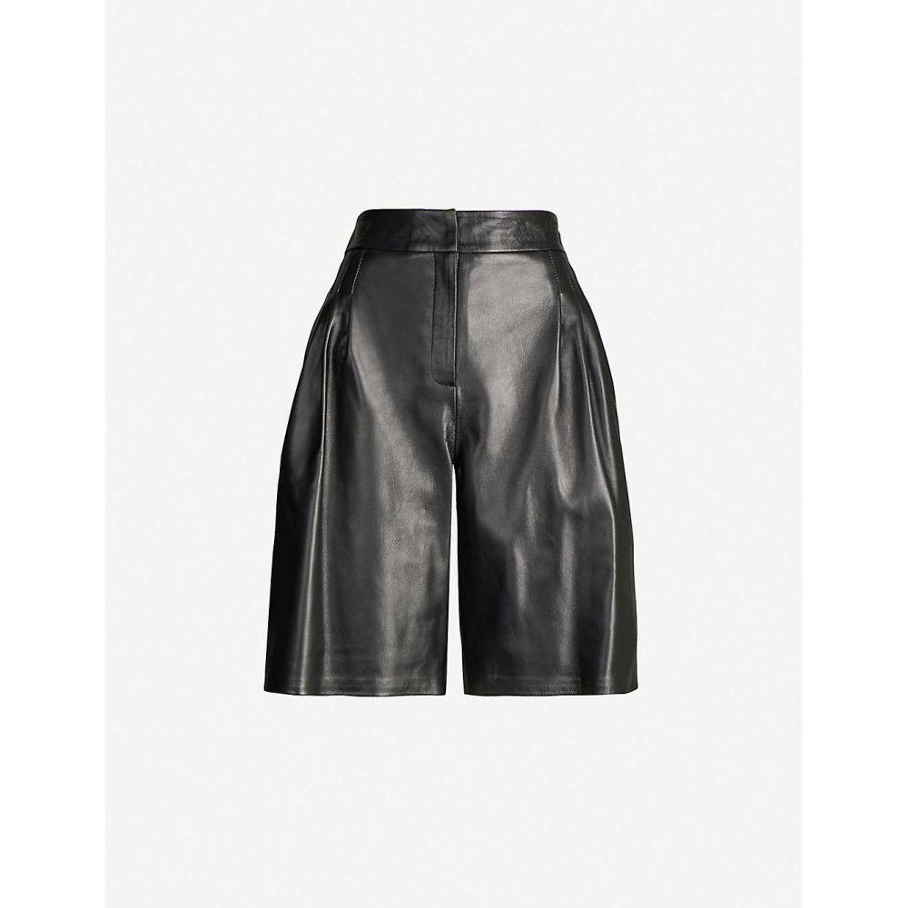 シックスティーン アーリントン 16 ARLINGTON レディース ショートパンツ ボトムス・パンツ【Grant high-waisted leather shorts】BLACK