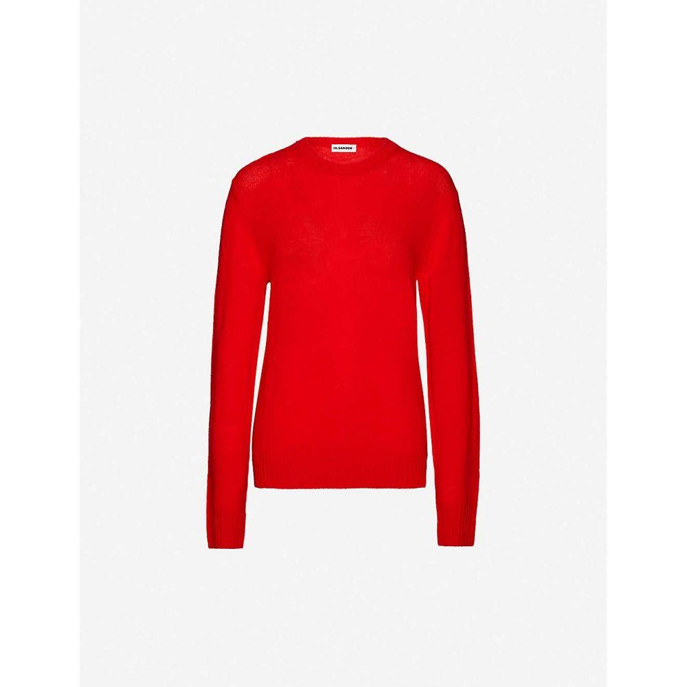 ジル サンダー JIL SANDER レディース ニット・セーター トップス【Round-neck wool jumper】Red