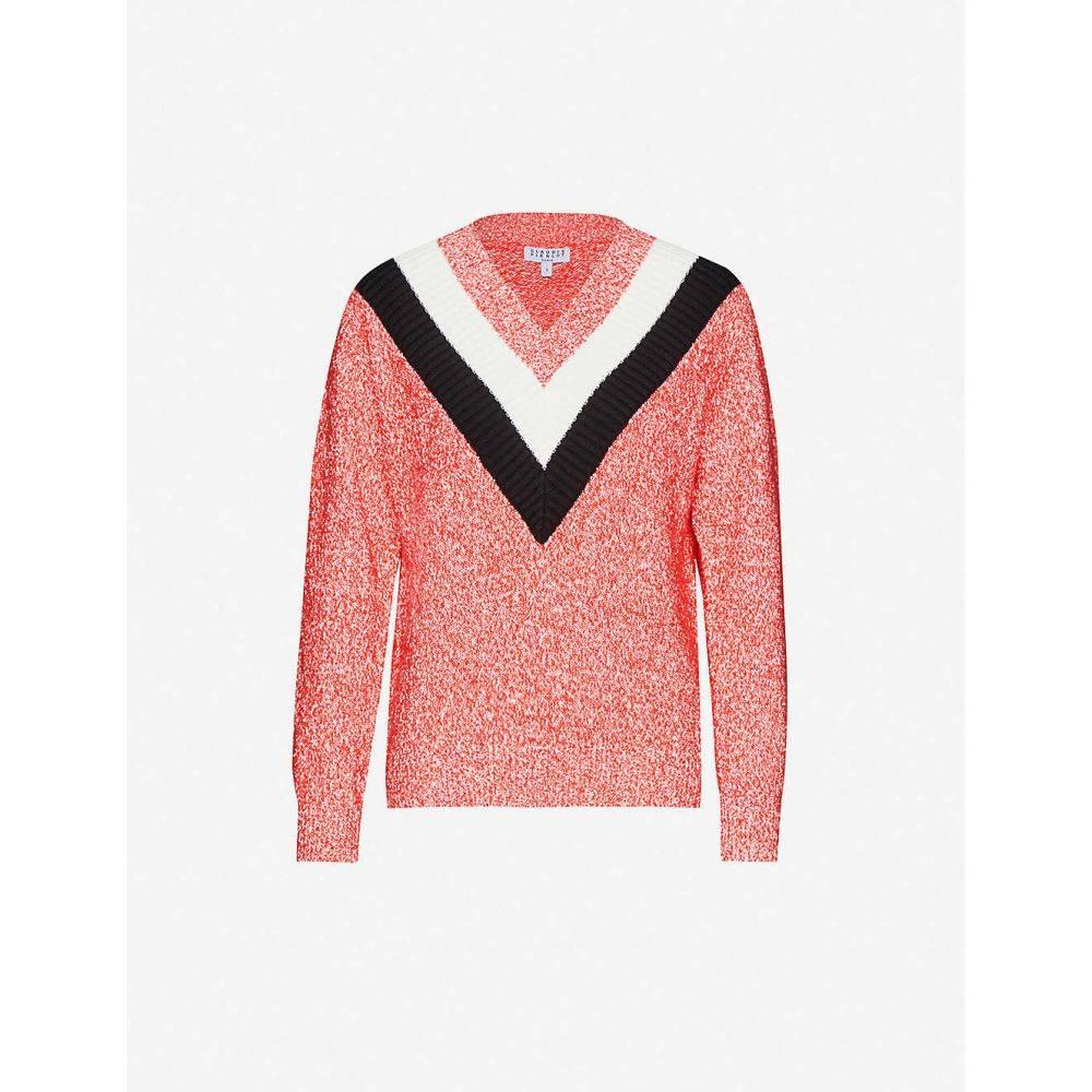 クローディ ピエルロ CLAUDIE PIERLOT レディース ニット・セーター トップス【Media cotton-blend knitted jumper】MULTICO