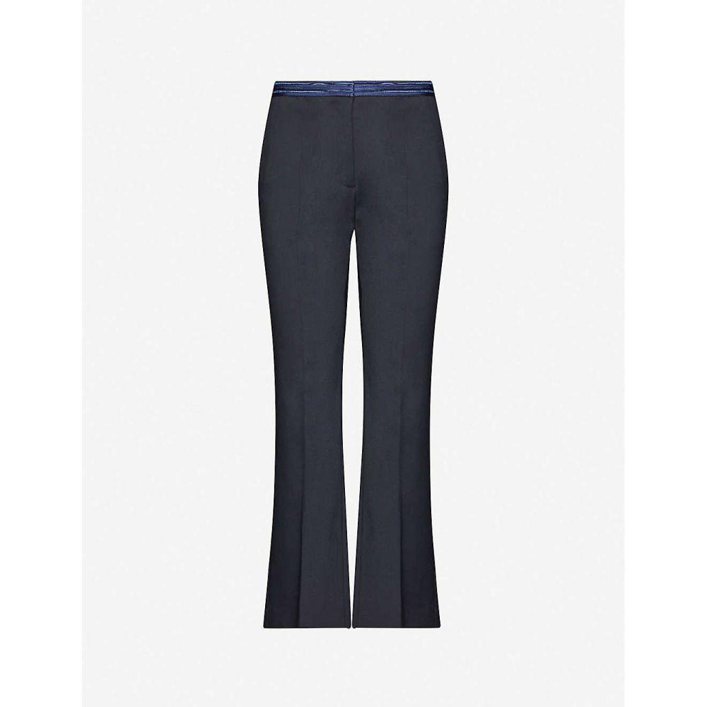 サンドロ SANDRO レディース ボトムス・パンツ 【Hamoy straight-leg mid-rise woven trousers】NAVY BLUE