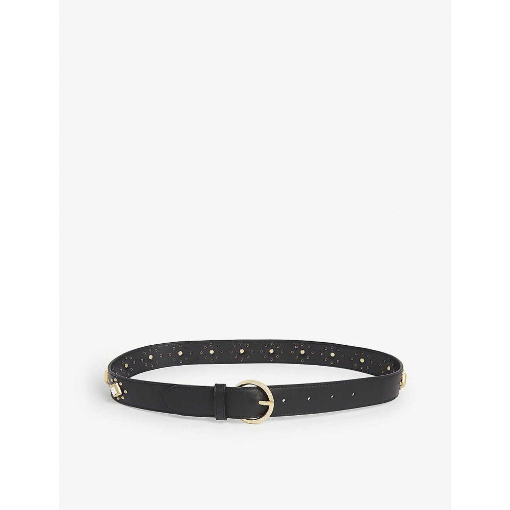 サンドロ SANDRO レディース ベルト 【Talia studded leather belt】BLACK