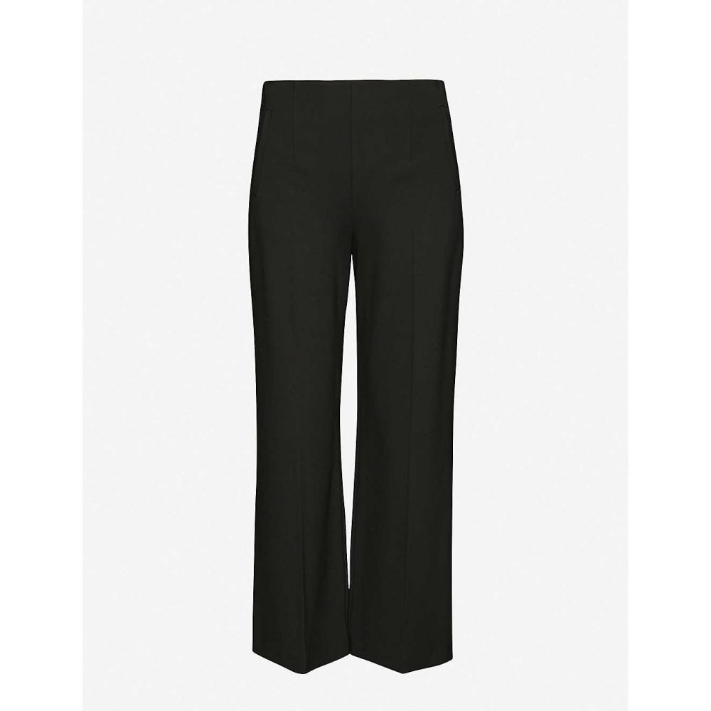 ホイッスルズ WHISTLES レディース ボトムス・パンツ 【Flat front stretch-jersey trousers】BLACK