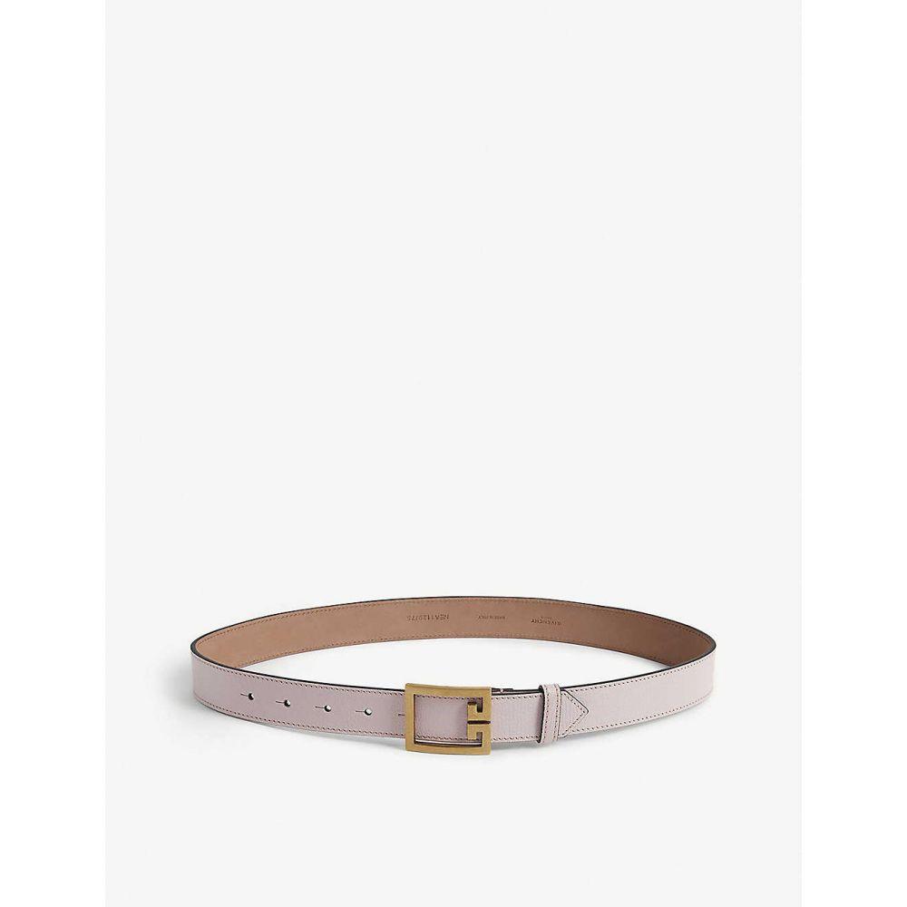 ジバンシー GIVENCHY レディース ベルト 【Logo buckle leather belt】Pink