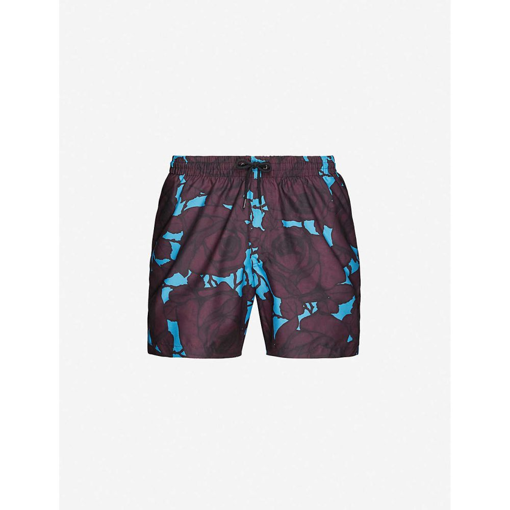 ドリス ヴァン ノッテン DRIES VAN NOTEN メンズ 海パン ショートパンツ 水着・ビーチウェア【Phibbs floral-print swim shorts】BLUE