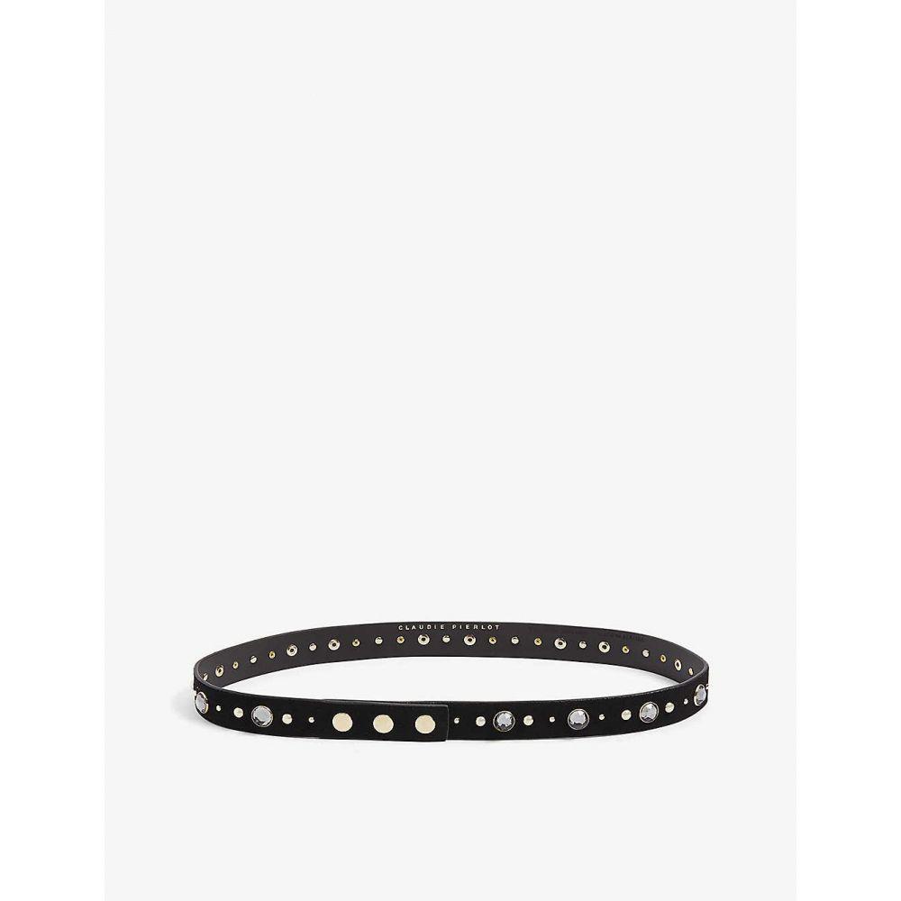 クローディ ピエルロ CLAUDIE PIERLOT レディース ベルト 【Astrasse20 stud embellished belt】BLACK