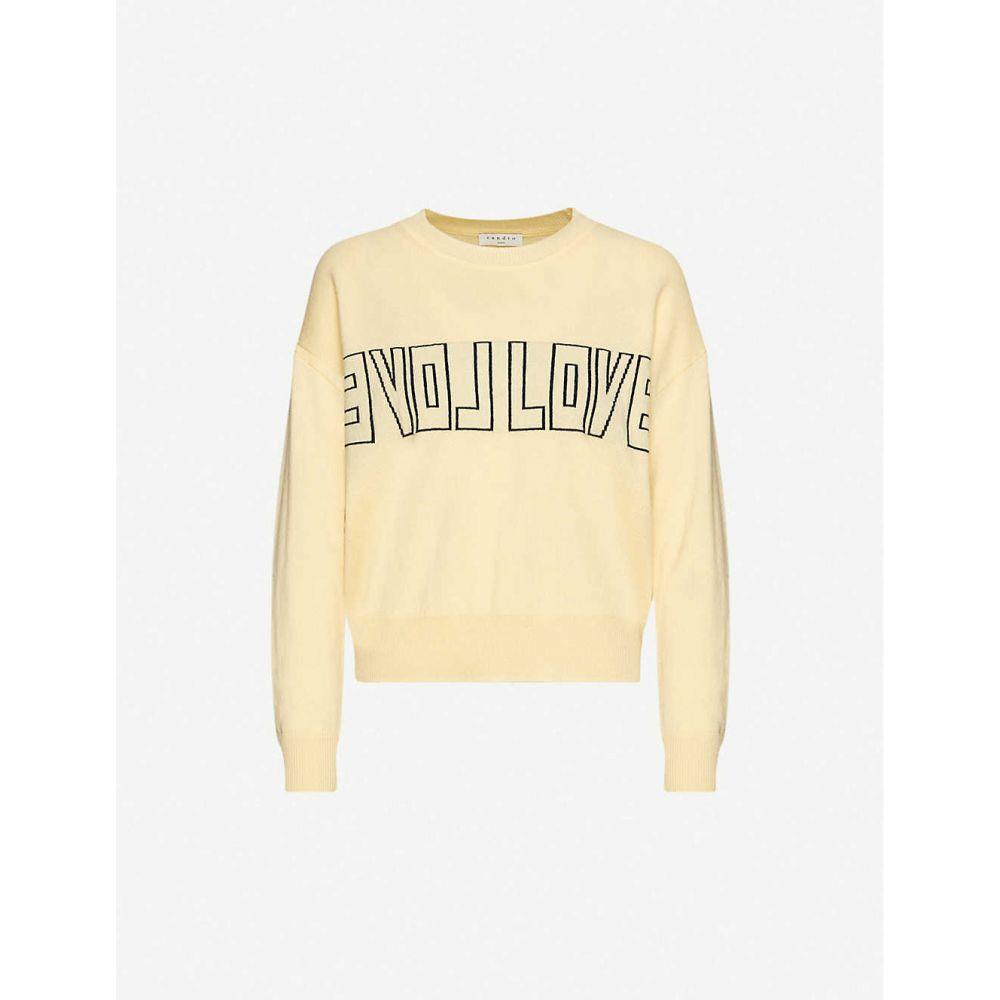 サンドロ SANDRO レディース ニット・セーター トップス【Love-intarsia wool and cashmere-blend jumper】YELLOW