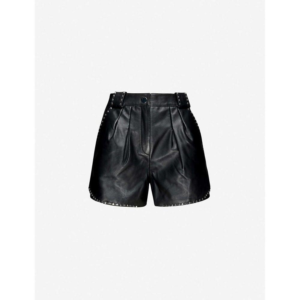 マージュ MAJE レディース ショートパンツ ボトムス・パンツ【Ilyad high-rise leather shorts】BLACK