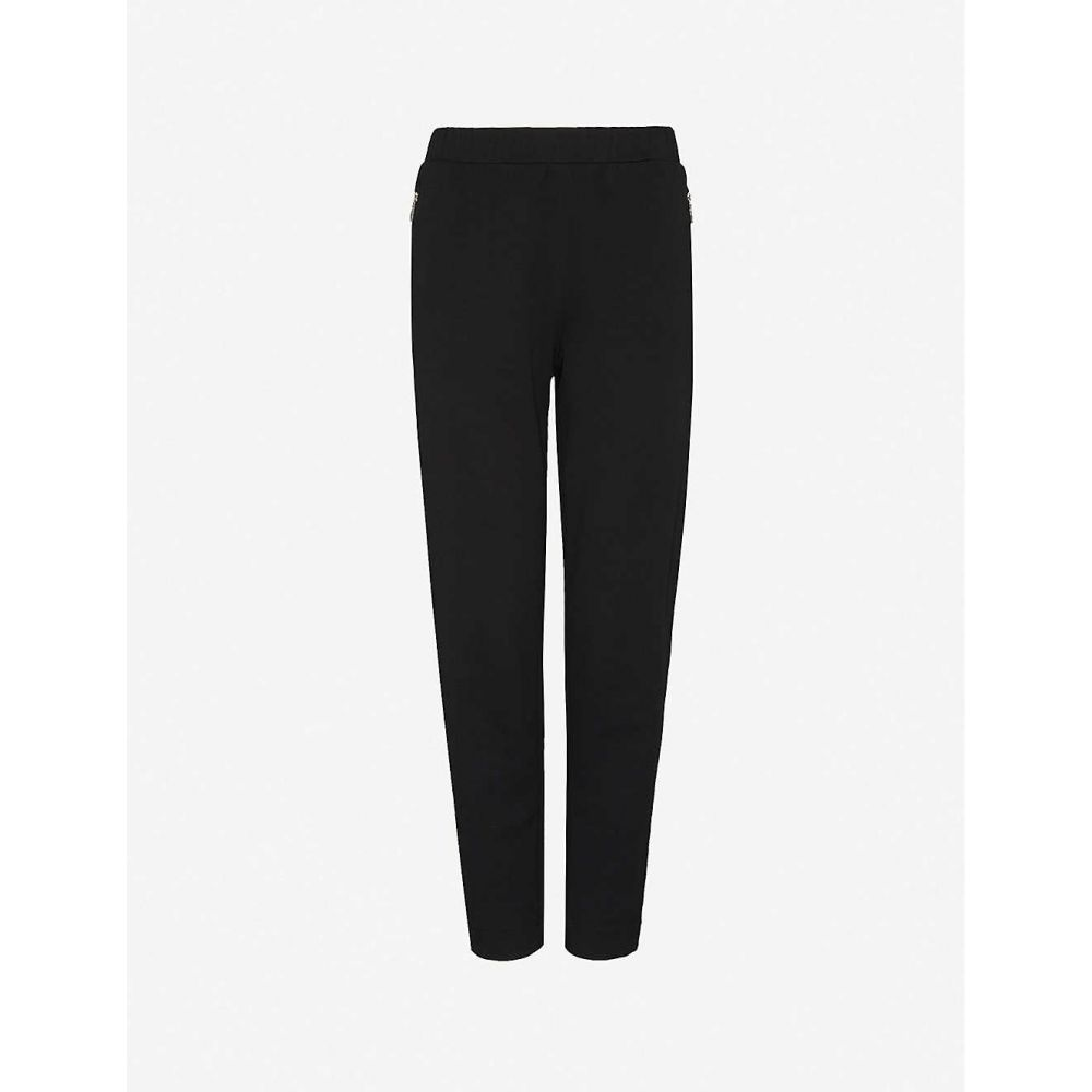 マックスマーラ MAX MARA レディース ボトムス・パンツ 【Tattico tapered mid-rise cotton-blend knitted trousers】Nero