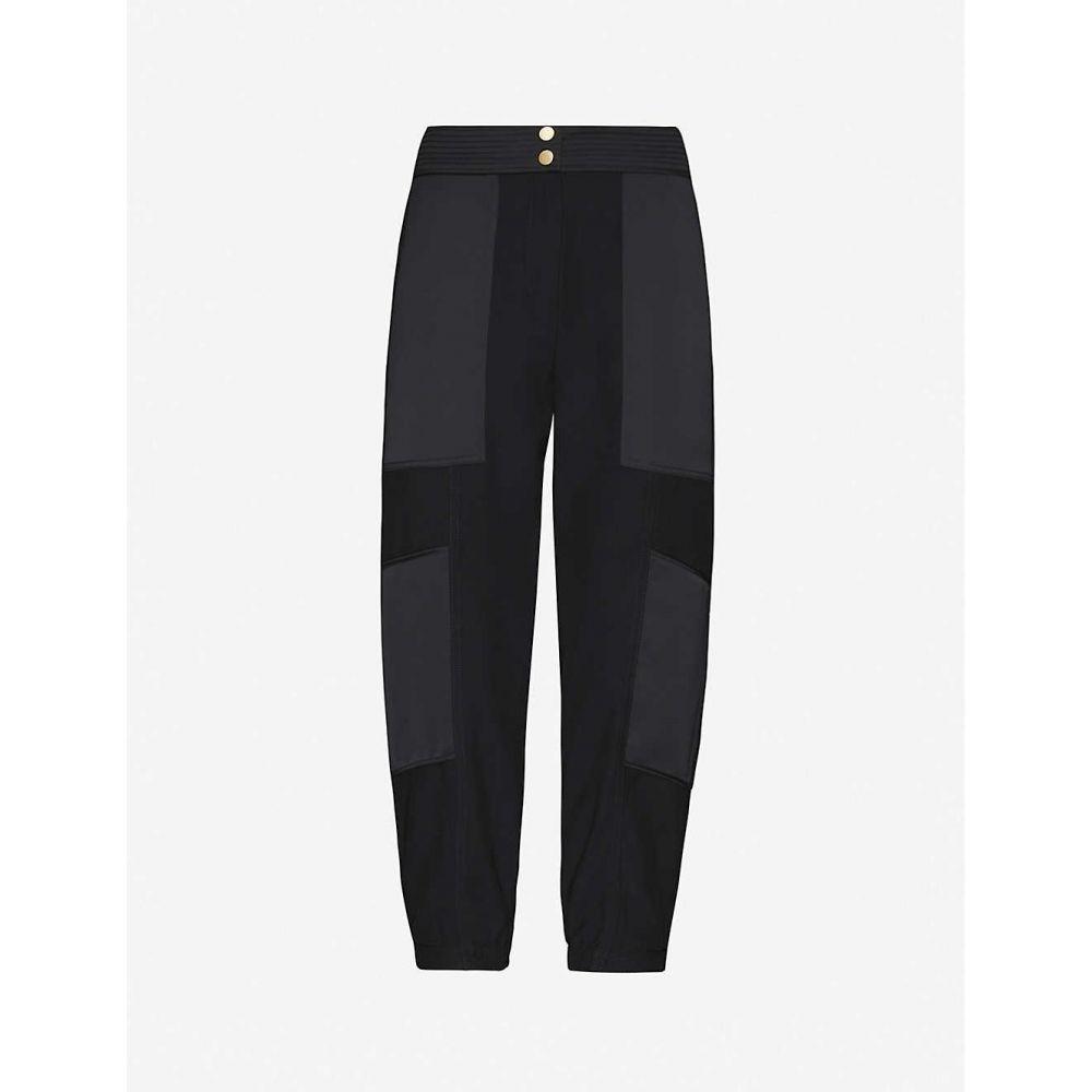 エムイーアンドイーエム ME AND EM レディース ボトムス・パンツ 【Mid-rise tapered woven-twill trousers】BLACK