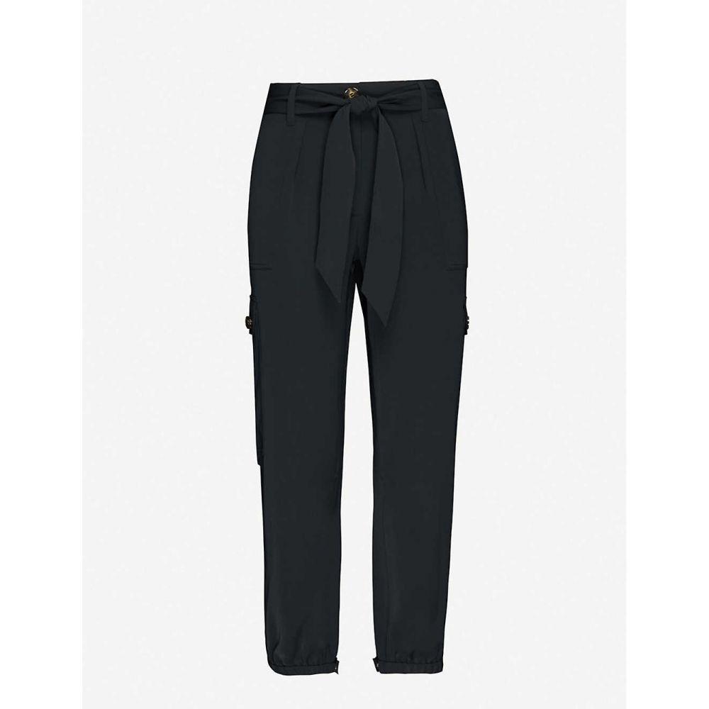 エムイーアンドイーエム ME AND EM レディース ボトムス・パンツ 【Fluid woven combat trousers】BLACK