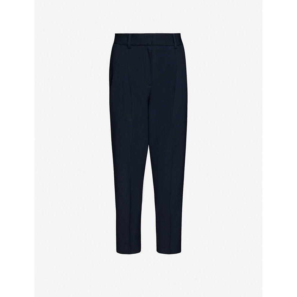 リース REISS レディース ボトムス・パンツ 【Arizona pleated wool-blend trousers】NAVY