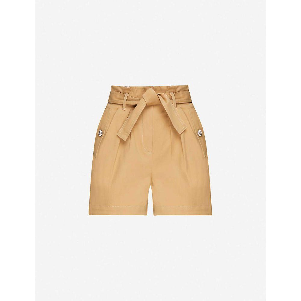 マージュ MAJE レディース ショートパンツ ボトムス・パンツ【High-rise stretch-cotton shorts】CAMEL