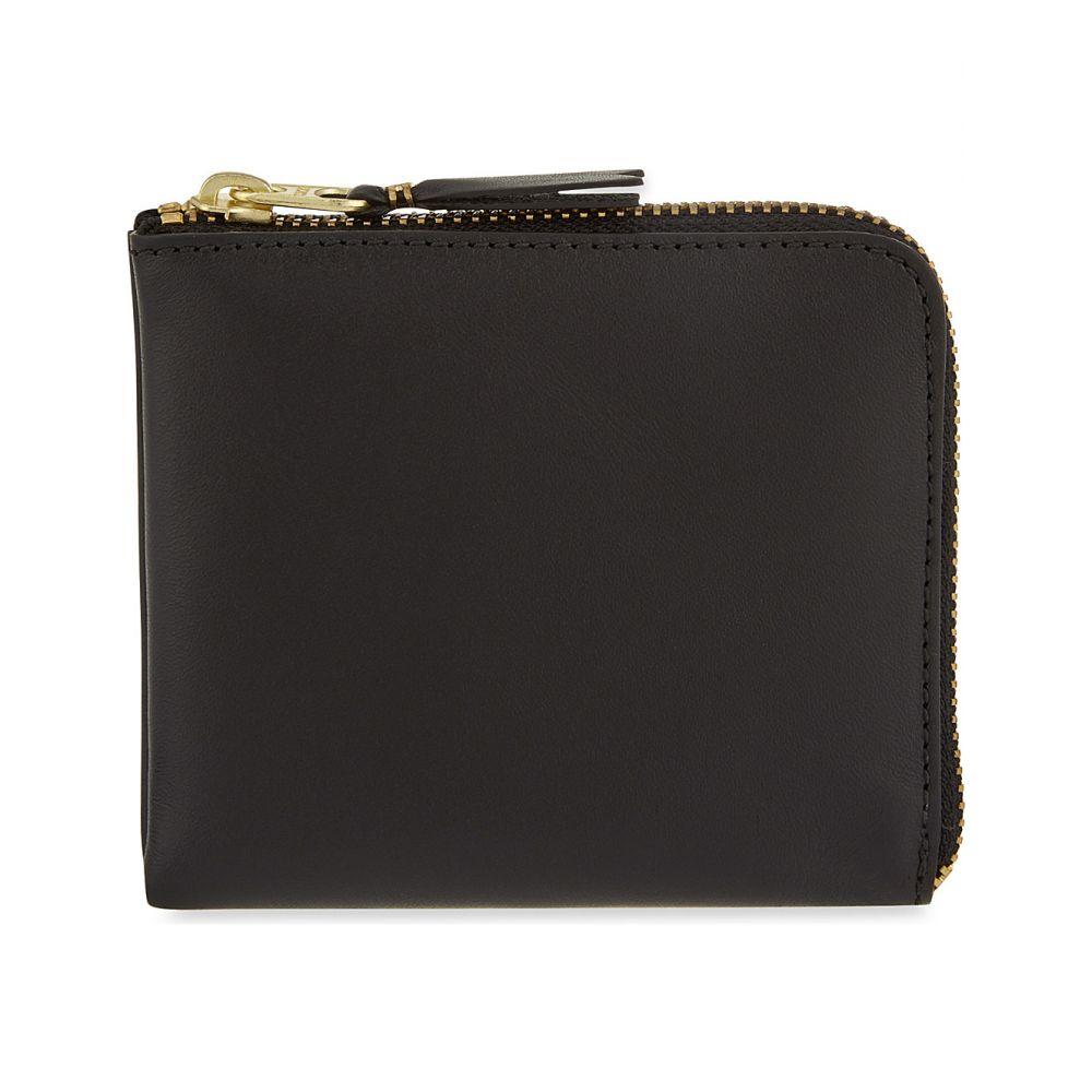 コム デ ギャルソン COMME DES GARCONS レディース 財布 【Leather half-zip wallet】BLACK