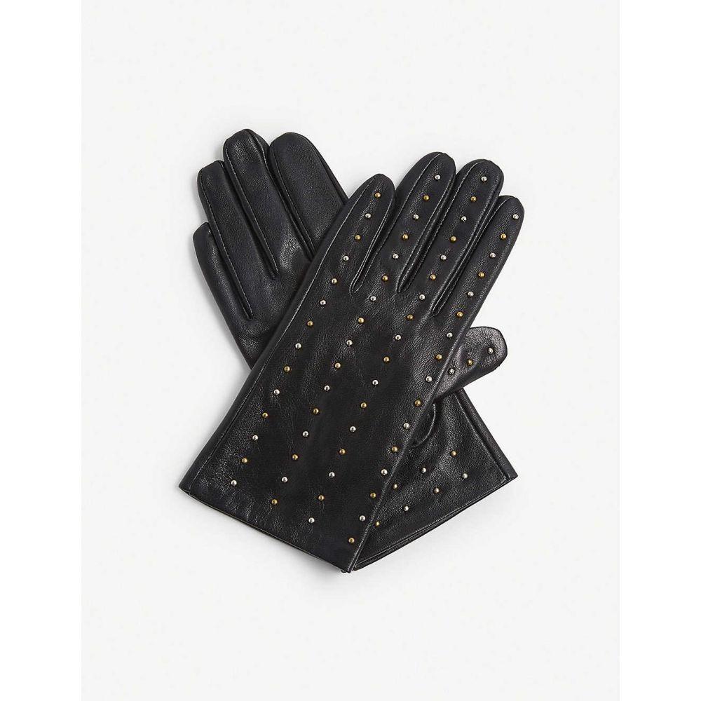 クローディ ピエルロ CLAUDIE PIERLOT レディース 手袋・グローブ 【Apocalypse studded leather gloves】BLACK