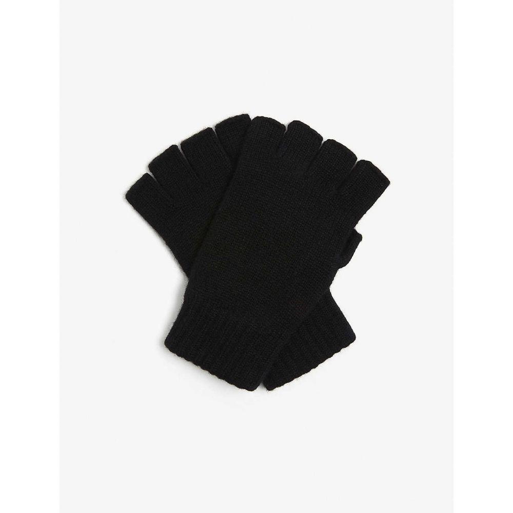 ジョンストンズ JOHNSTONS レディース 手袋・グローブ フィンガーレス【Fingerless cashmere gloves】BLACK