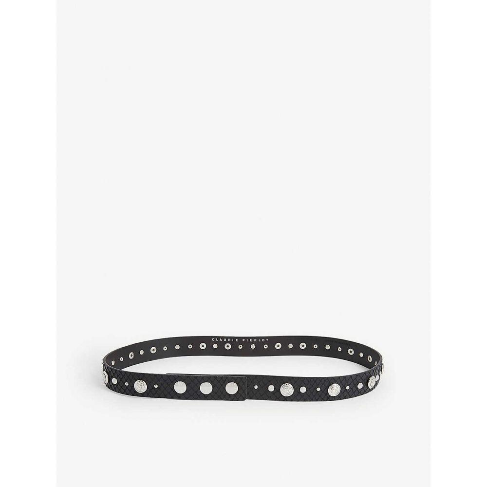 クローディ ピエルロ CLAUDIE PIERLOT レディース ベルト 【Avegas studded leather belt】BLACK