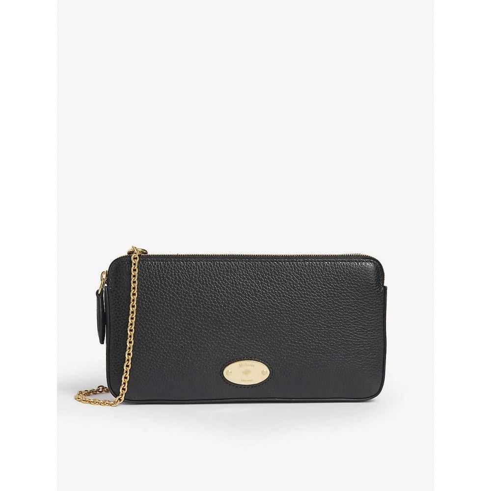 マルベリー MULBERRY レディース 財布 チェーンウォレット【Pebbled leather wallet-on-chain】BLACK