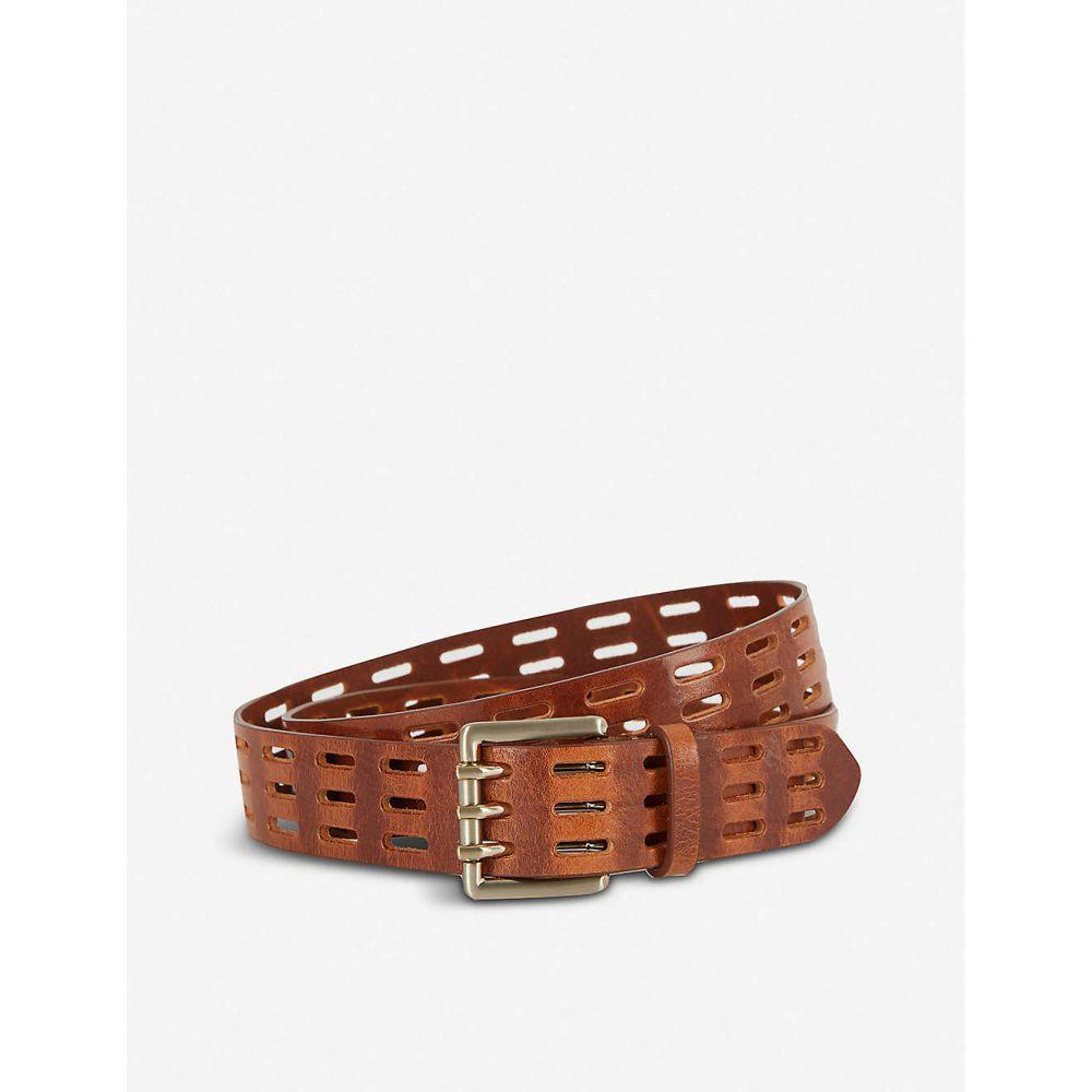 リース REISS レディース ベルト 【Taylor cut-out leather belt】TAN
