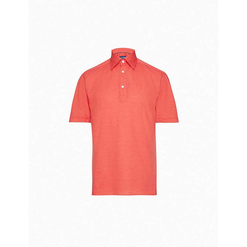 イートン ETON メンズ ポロシャツ トップス【Short-sleeve cotton-pique polo shirt】Pink/Red