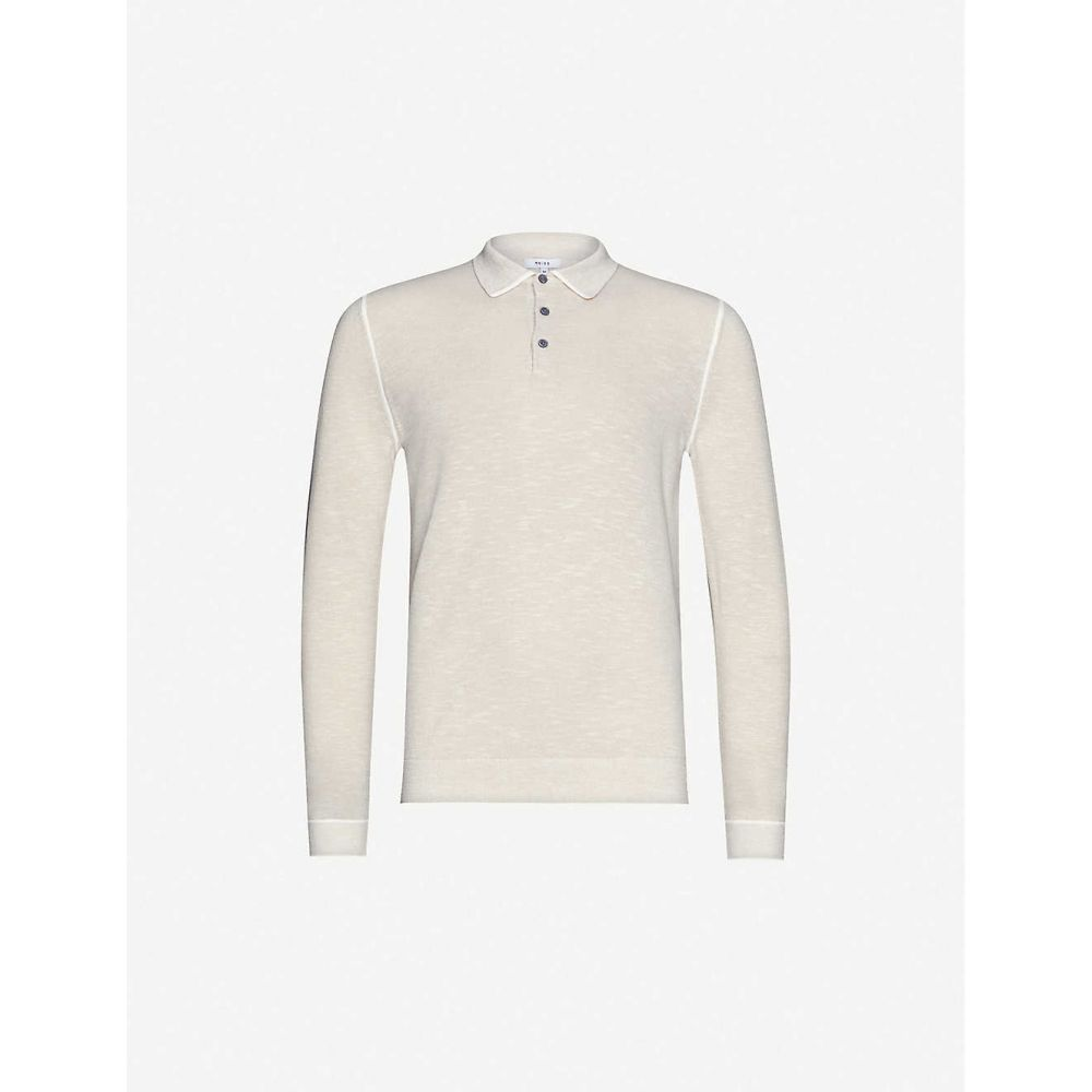 リース REISS メンズ ポロシャツ トップス【Gabriel knitted polo shirt】OATMEAL