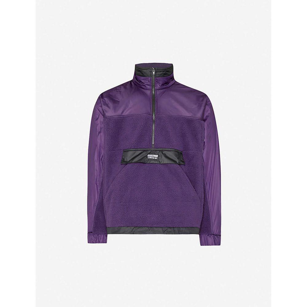 アディダス ADIDAS メンズ ジャケット シェルジャケット アウター【Vocal fleece and shell jacket】Legend Purple