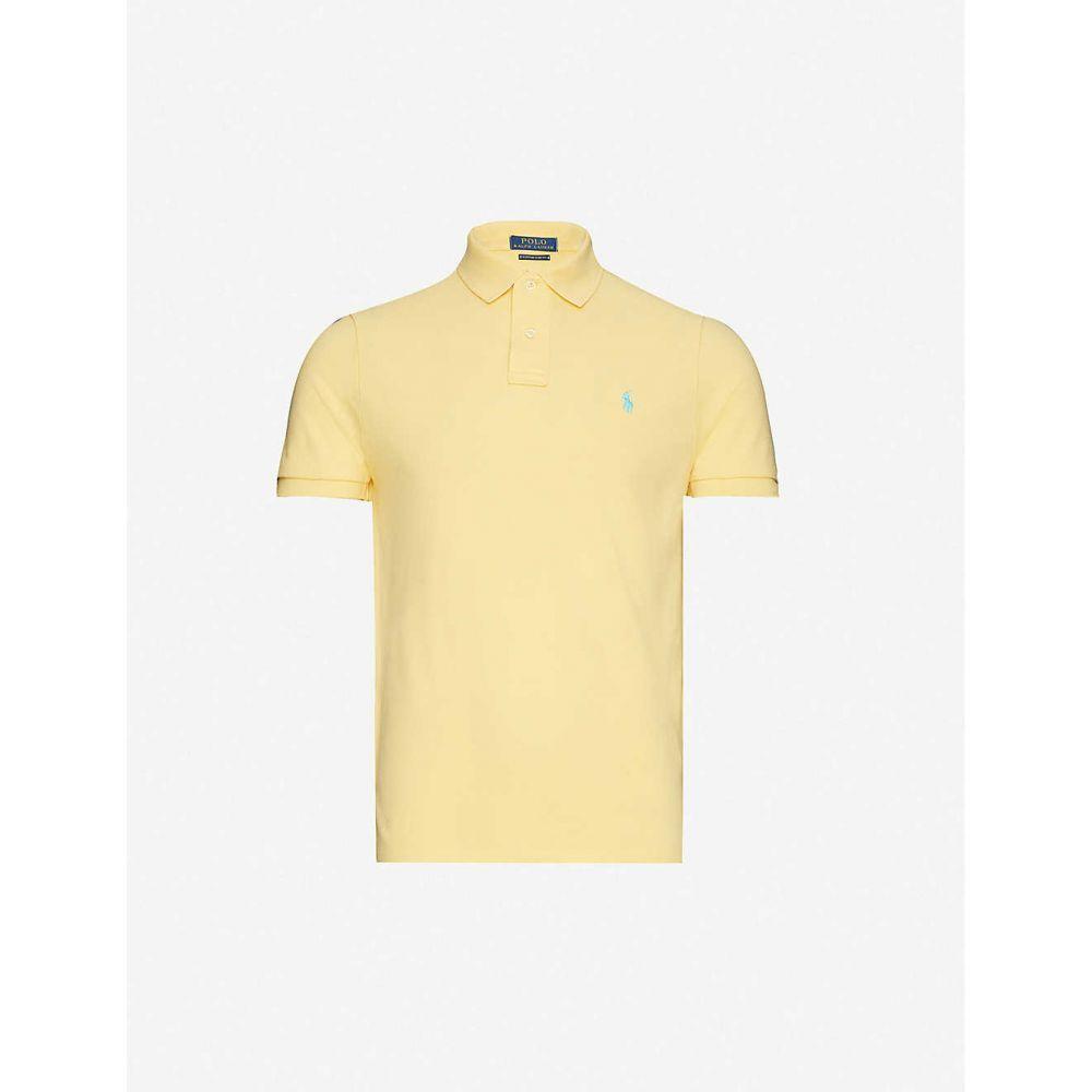 ラルフ ローレン POLO RALPH LAUREN メンズ ポロシャツ トップス【Logo-embroidered cotton-pique polo shirt】Empire Yellow