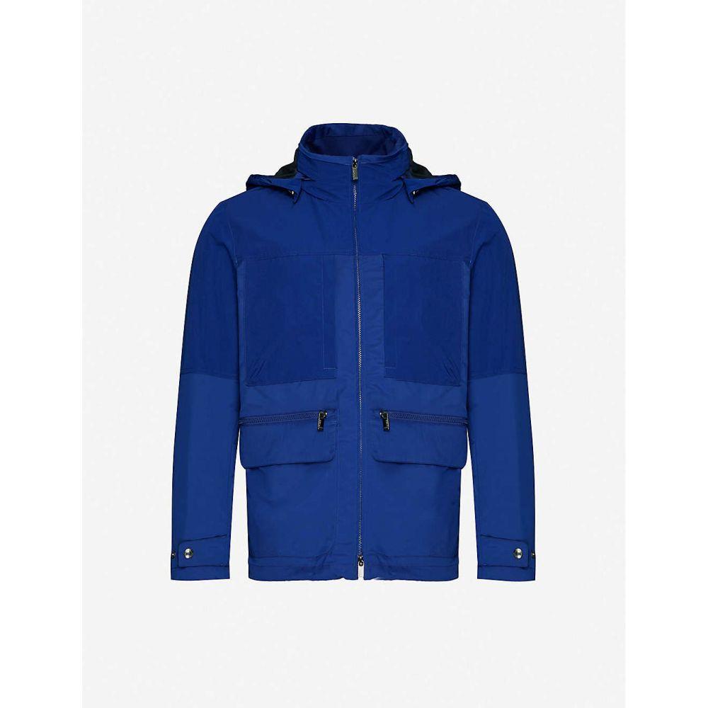 ジーゼニア Z ZEGNA メンズ ジャケット フード アウター【Funnel-neck hooded wool field jacket】BLUE