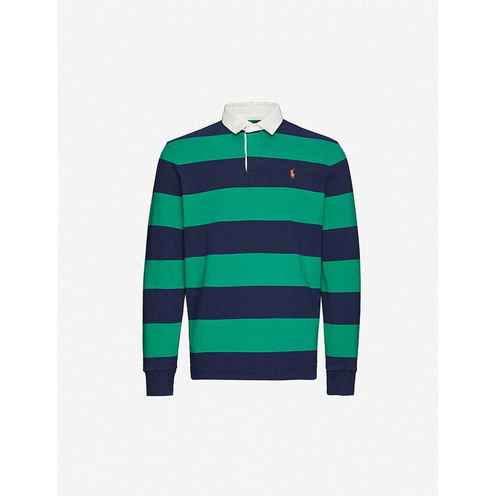ラルフ ローレン POLO RALPH LAUREN メンズ ポロシャツ トップス【Logo-embroidered cotton-jersey rugby shirt】Kayak Green Multi