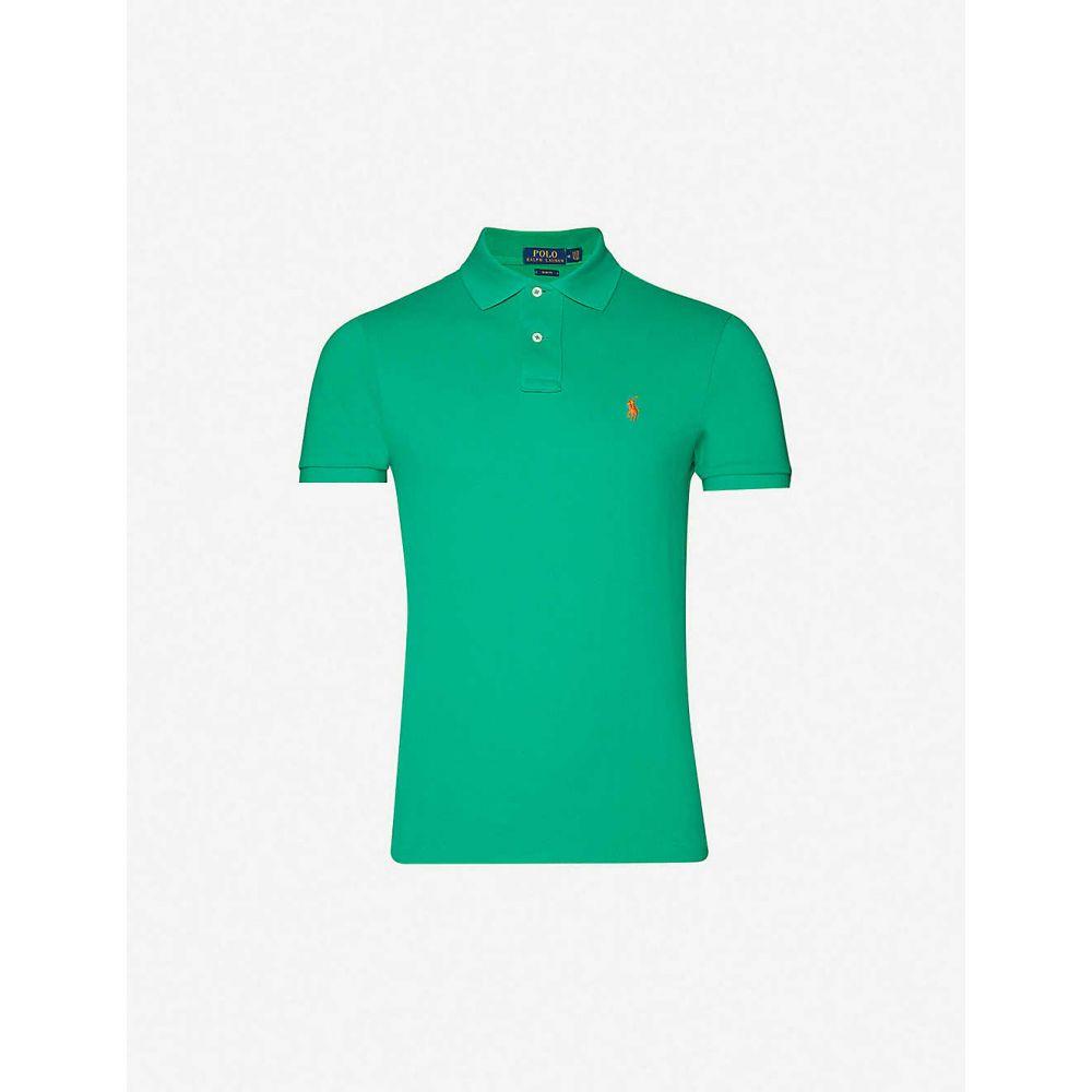 ラルフ ローレン POLO RALPH LAUREN メンズ ポロシャツ トップス【Logo-embroidered slim-fit cotton-pique polo shirt】CHROMA GREEN