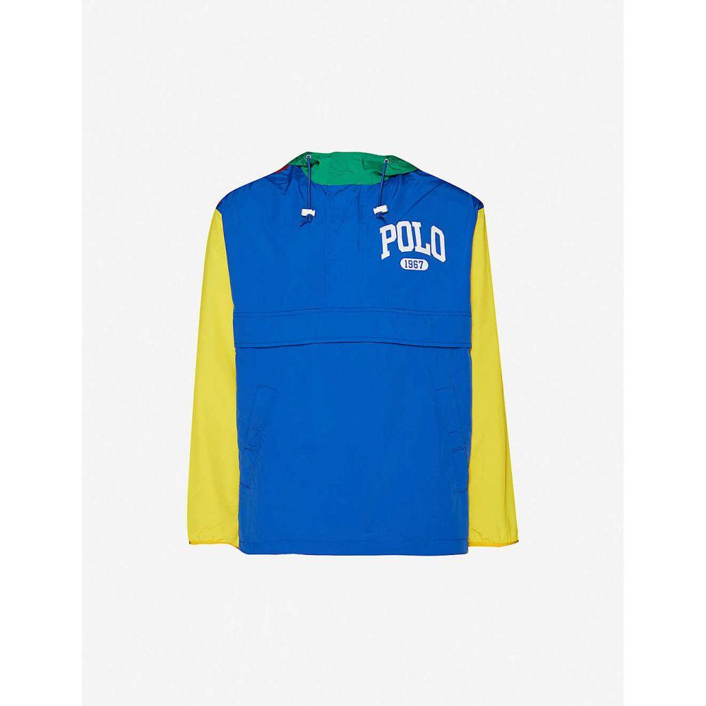 ラルフ ローレン POLO RALPH LAUREN メンズ ジャケット シェルジャケット アウター【Logo-print shell jacket】Red & Royal
