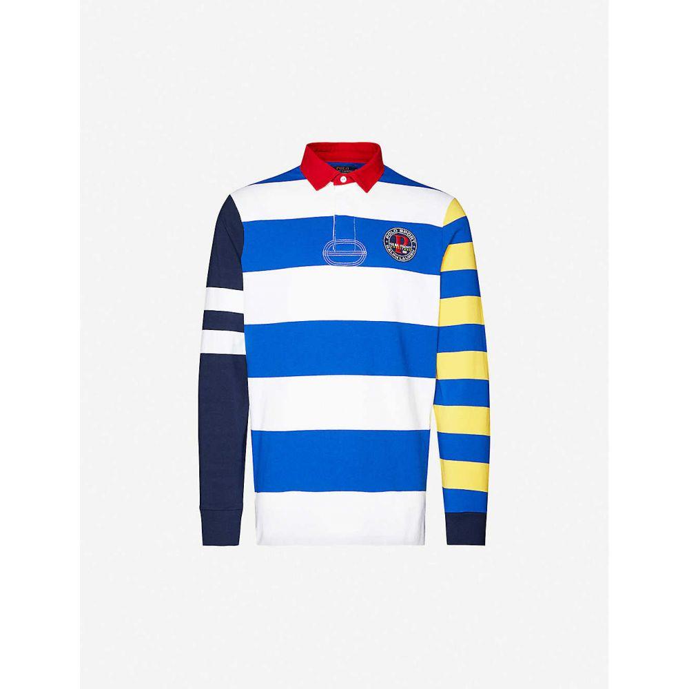 ラルフ ローレン POLO RALPH LAUREN メンズ ポロシャツ トップス【Striped cotton-jersey rugby shirt】Sapphire Star