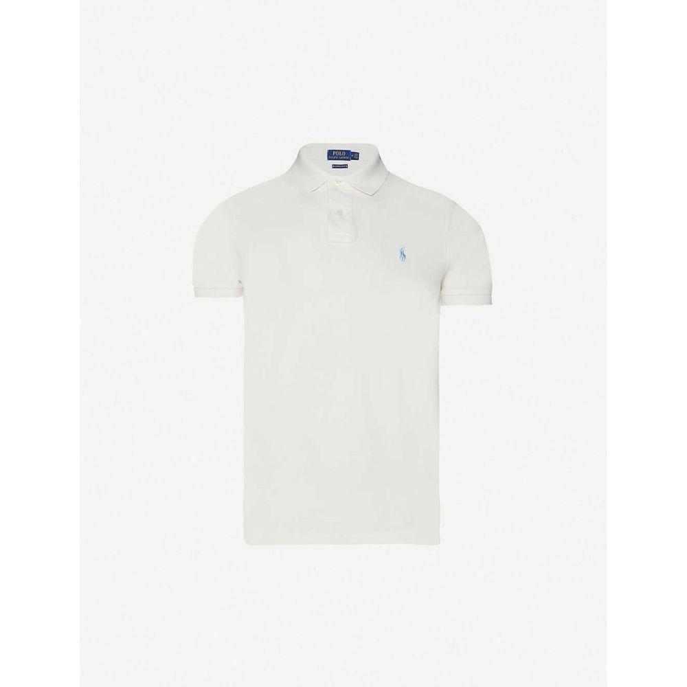 ラルフ ローレン POLO RALPH LAUREN メンズ ポロシャツ トップス【Logo-embroidered cotton-pique polo shirt】CREAM