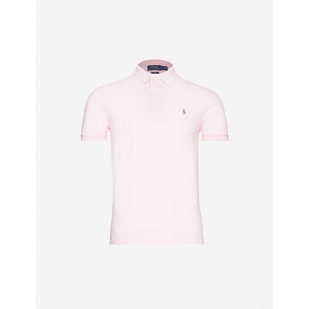 ラルフ ローレン POLO RALPH LAUREN メンズ ポロシャツ トップス【Logo-print cotton-pique polo shirt】CARMEL PINK