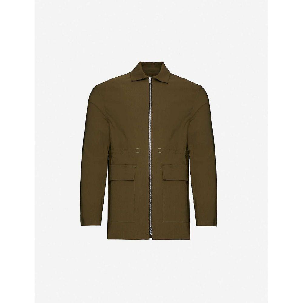 プレヴ PREVU メンズ ジャケット アウター【Signature relaxed-fit cotton-blend jacket】Khaki