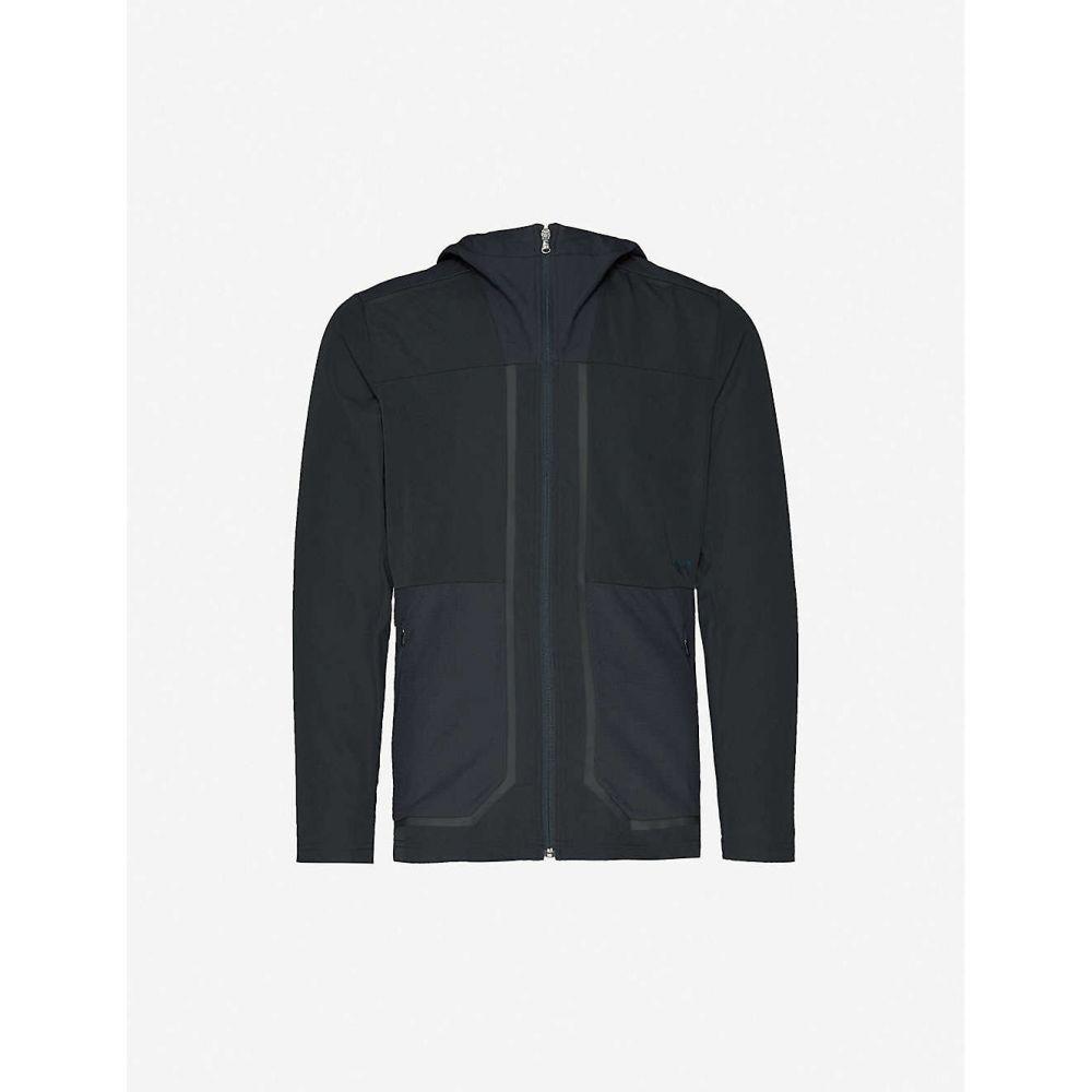 アンダーアーマー UNDER ARMOUR メンズ フィットネス・トレーニング ジャケット アウター【Perpetual Training brand-print stretch-shell jacket】BLACK