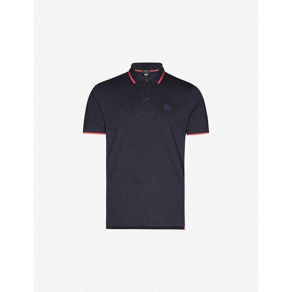 ヒューゴ ボス BOSS メンズ ポロシャツ トップス【Slim-fit cotton-pique polo shirt】Dark Blue
