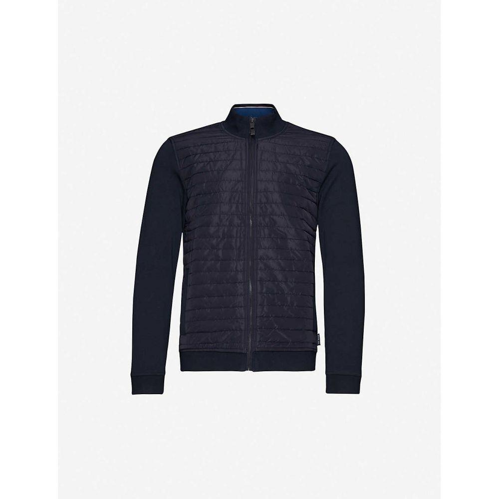 テッドベーカー TED BAKER メンズ ジャケット シェルジャケット アウター【Funnel-neck shell and knitted jacket】NAVY