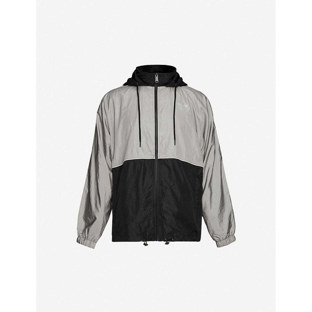 ボーイロンドン BOY LONDON メンズ ジャケット フード シェルジャケット アウター【Eagle graphic-print hooded shell jacket】BLACK GREY