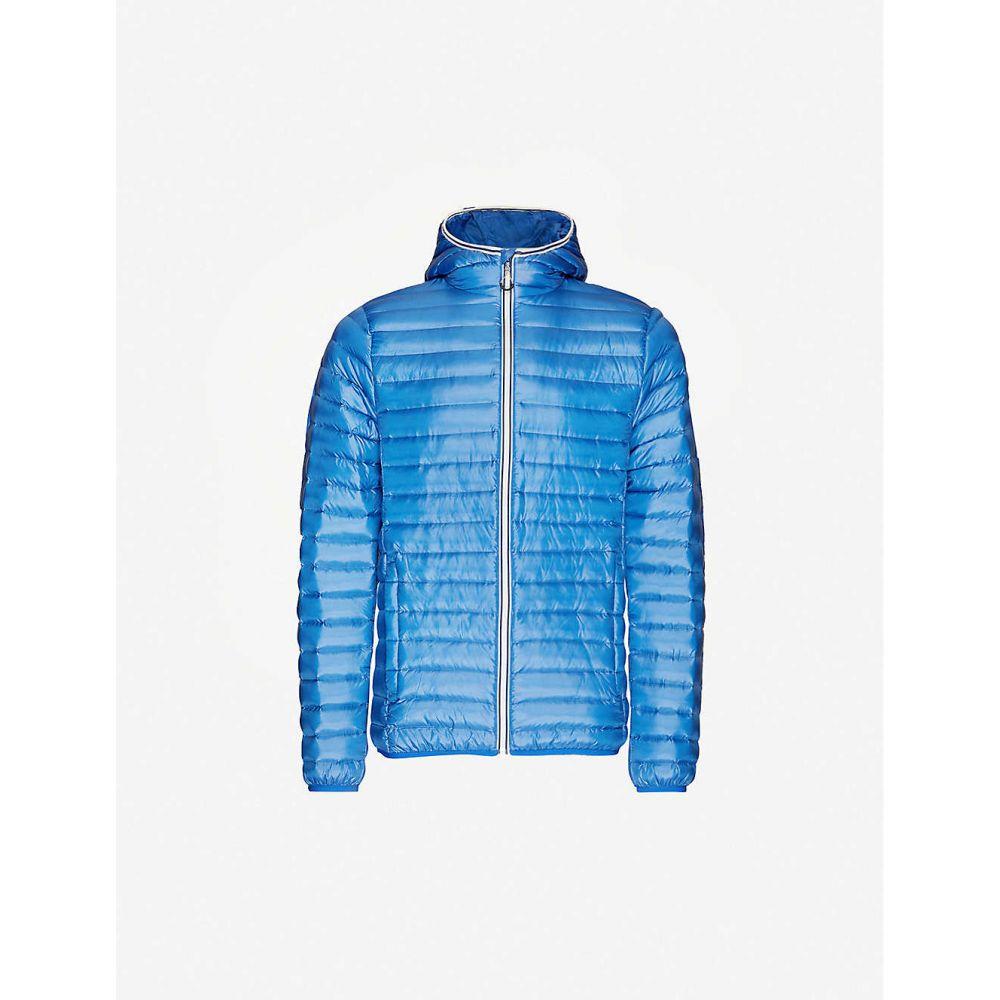 ピレネックス PYRENEX メンズ ダウン・中綿ジャケット フード シェルジャケット アウター【Bruce hooded shell jacket】Light Blue