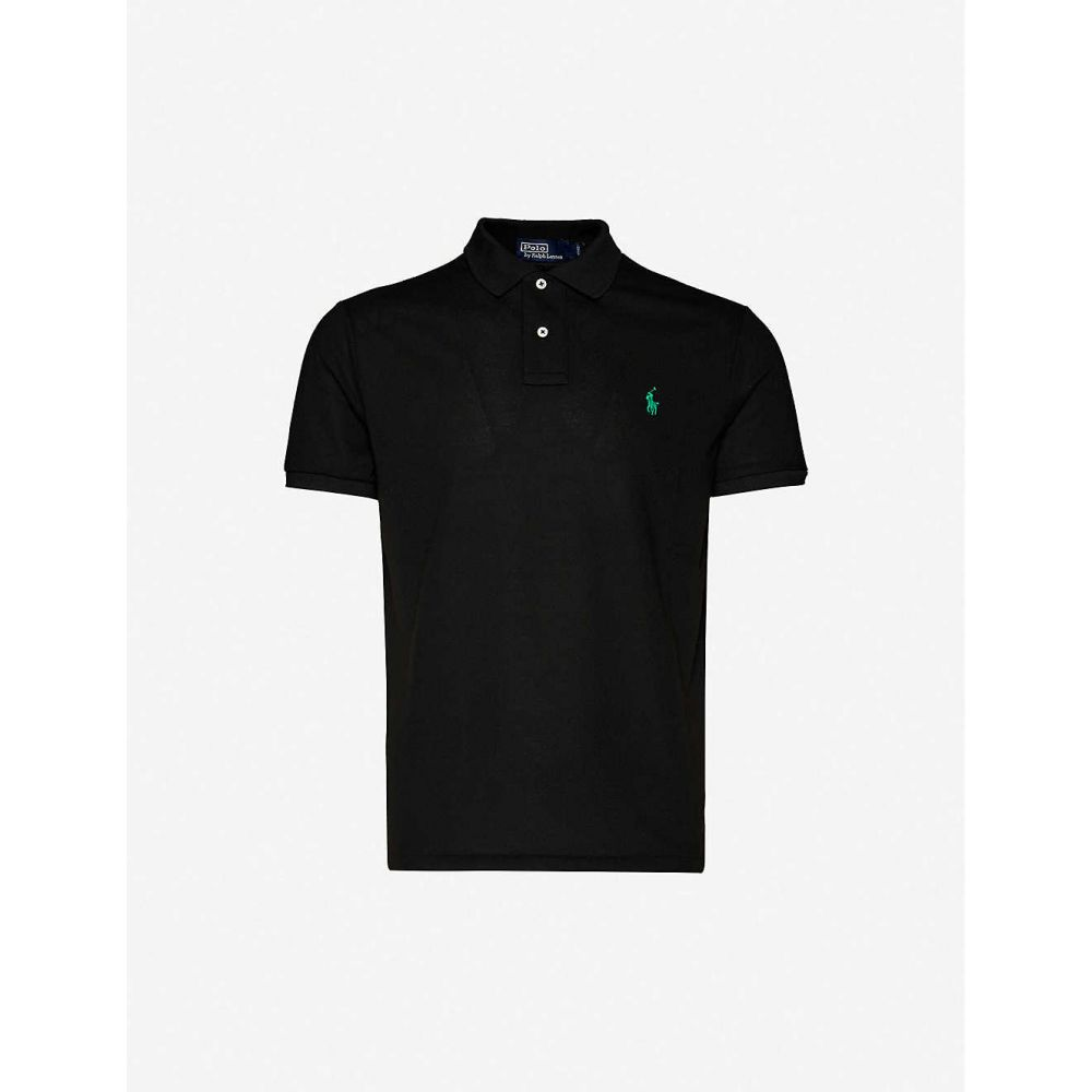 ラルフ ローレン POLO RALPH LAUREN メンズ ポロシャツ トップス【Logo-print woven polo shirt】Polo Black