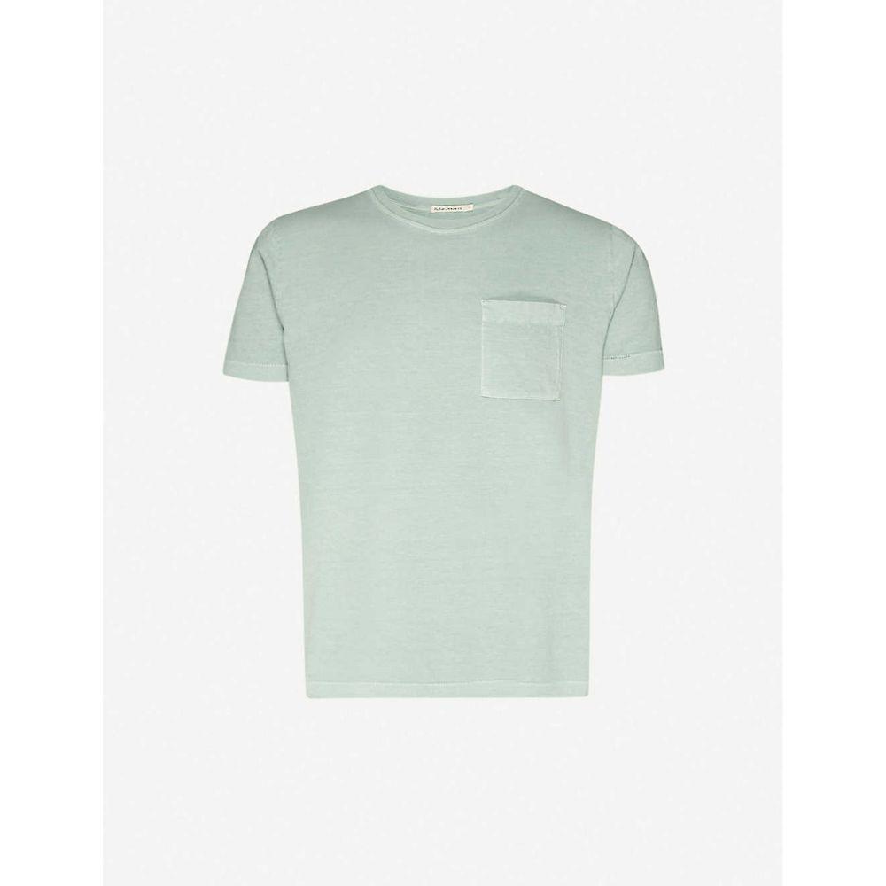 ヌーディージーンズ NUDIE JEANS メンズ Tシャツ トップス【Roy cotton-jersey T-shirt】Pale Green